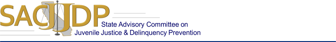 State Advisory Committee on Juvenile Justice & Delinquency Prevention