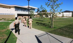 Inmates walking